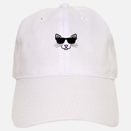 Cool Cat Wearing Sunglasses Baseball Baseball Cap