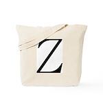 Greek Character Zeta Tote Bag