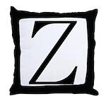 Greek Character Zeta Throw Pillow