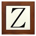 Greek Character Zeta Framed Tile