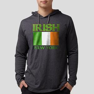 IRISH NEW YORK Mens Hooded Shirt