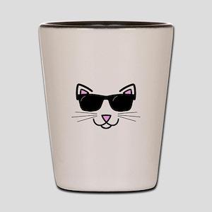 Cool Cat Wearing Sunglasses Shot Glass