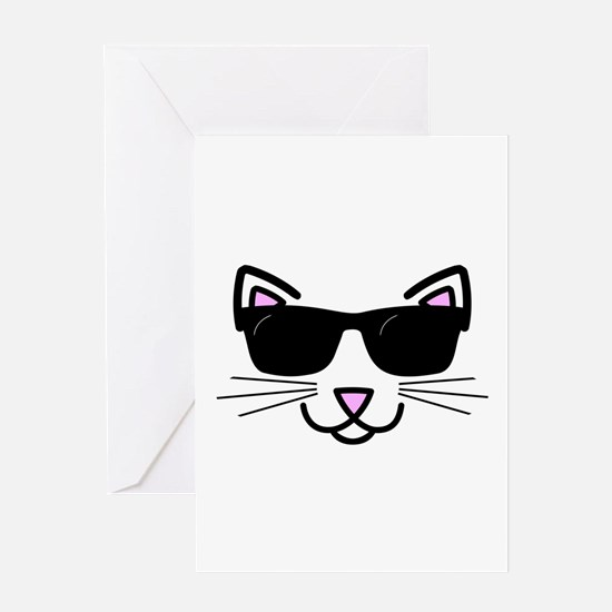 Cool Cat Wearing Sunglasses Greeting Cards