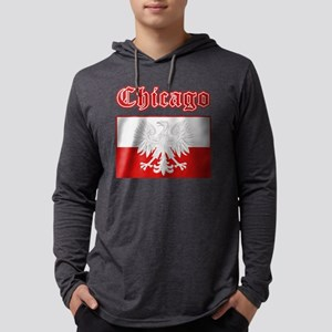 chicago poland Mens Hooded Shirt