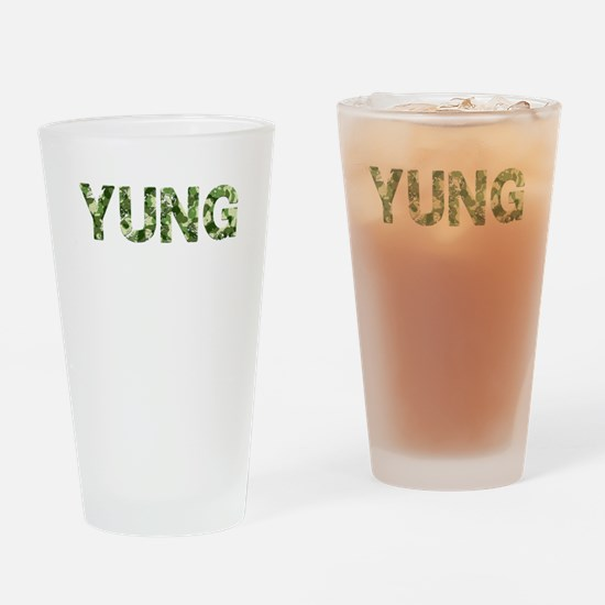 Yung, Vintage Camo, Drinking Glass