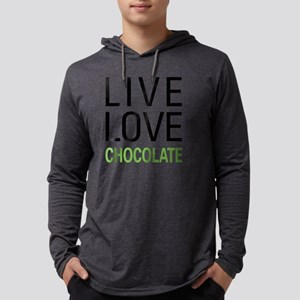 Live Love Chocolate Mens Hooded Shirt
