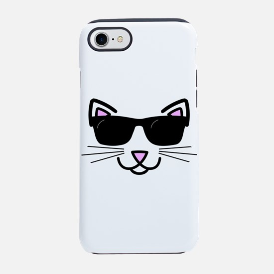Cool Cat Wearing Sunglasses iPhone 7 Tough Case