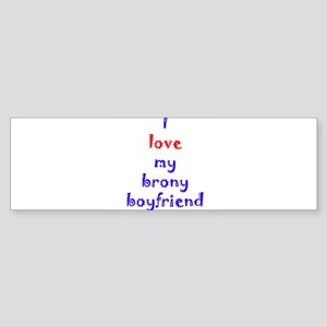 Brony Boyfriend Sticker (Bumper)