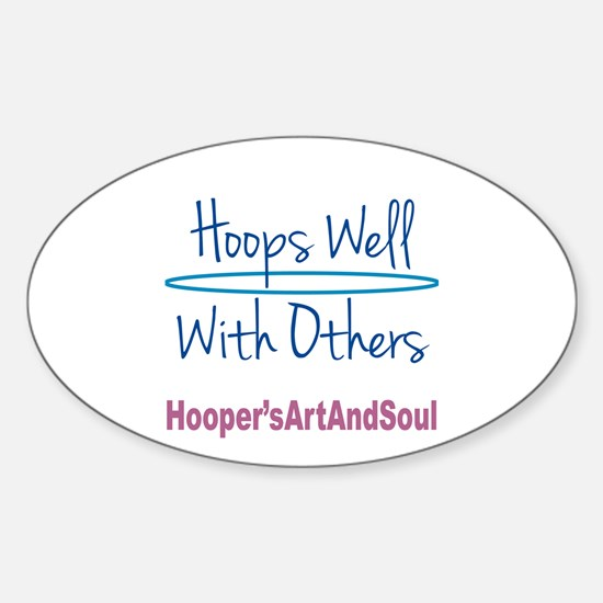Hooper Hula Hoop Well with Others Sticker (Oval)