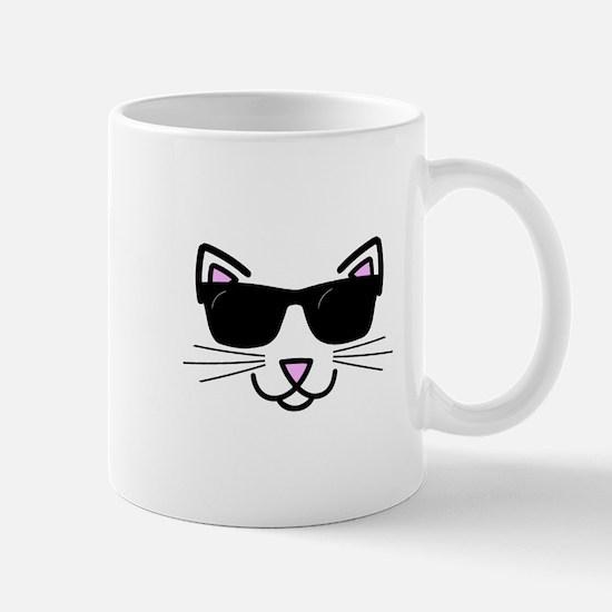 Cool Cat Wearing Sunglasses Mugs