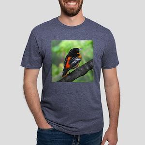 Backside Oriole Mens Tri-blend T-Shirt