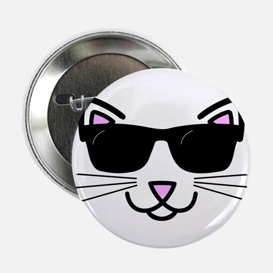 """Cool Cat Wearing Sunglasses 2.25"""" Button"""