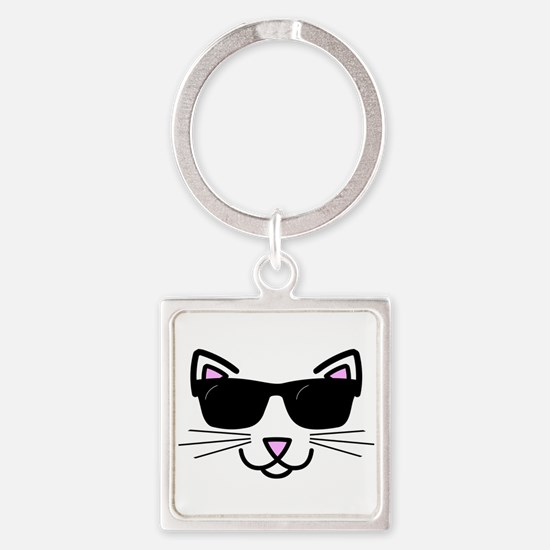 Cool Cat Wearing Sunglasses Keychains