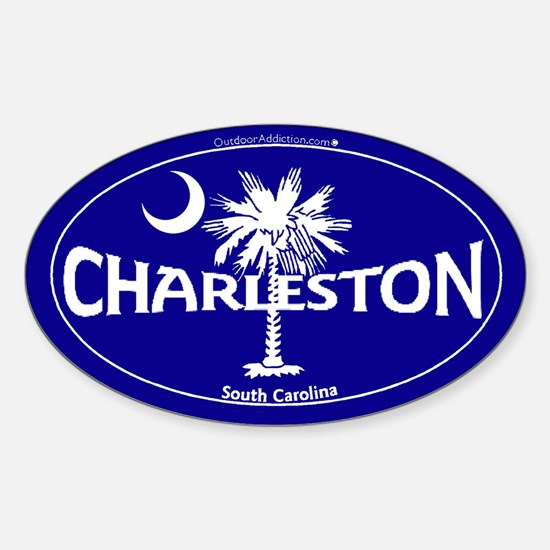 Charleston South Carolina Clear Sticker (Oval)