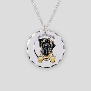 Mastiff IAAM Necklace Circle Charm