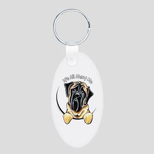 Mastiff IAAM Aluminum Oval Keychain