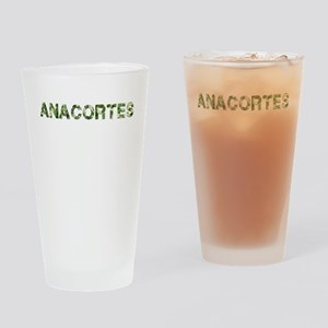 Anacortes, Vintage Camo, Drinking Glass