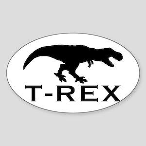 T Rex Sticker (Oval)