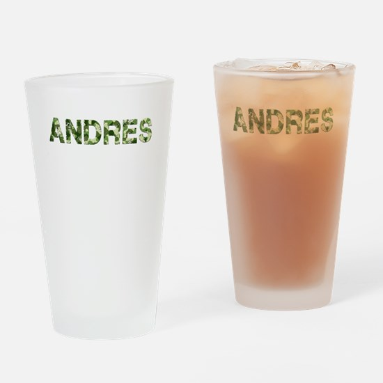 Andres, Vintage Camo, Drinking Glass