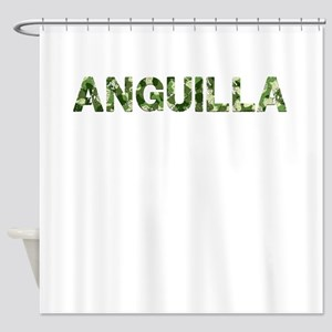 Anguilla, Vintage Camo, Shower Curtain