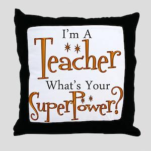 Super Teacher Throw Pillow