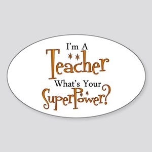 Super Teacher Sticker (Oval)