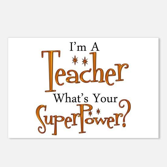 Super Teacher Postcards (Package of 8)