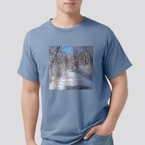 Snow Trail Scenery Mens Comfort Colors Shirt