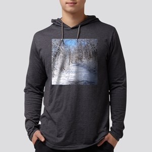 Snow Trail Scenery Mens Hooded Shirt