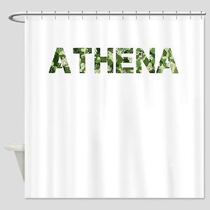 Athena, Vintage Camo, Shower Curtain