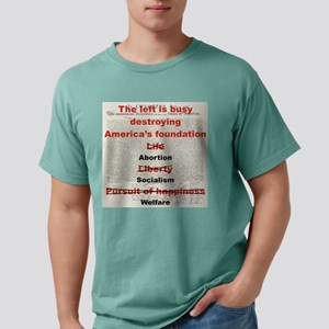 THE LEFT IS BUSY DESTROY Mens Comfort Colors Shirt
