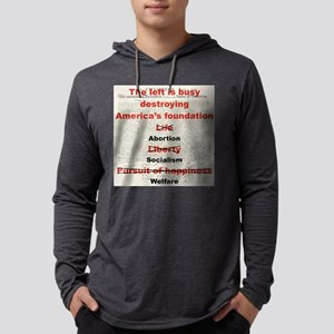 THE LEFT IS BUSY DESTROYING THE  Mens Hooded Shirt