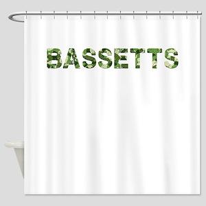 Bassetts, Vintage Camo, Shower Curtain