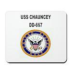USS CHAUNCEY Mousepad