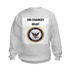 USS CHAUNCEY Kids Sweatshirt
