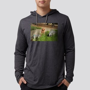 A Viszla and friends at Thousand Mens Hooded Shirt