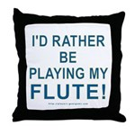 Playing Flute Throw Pillow