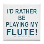 Playing Flute Tile Coaster