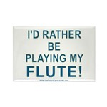 Playing Flute Rectangle Magnet