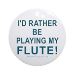 Playing Flute Ornament (Round)