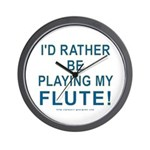 Playing Flute Wall Clock