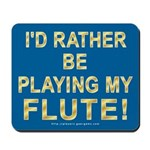 Playing Flute Mousepad