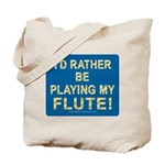 Playing Flute Tote Bag