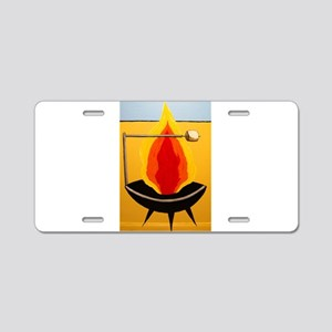 Smores Fire Pit Aluminum License Plate