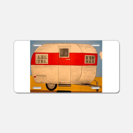 Camper Ham Aluminum License Plate