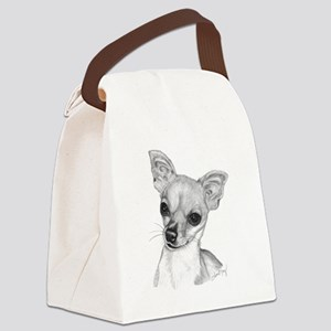 Chihuahua-Short Hair Canvas Lunch Bag