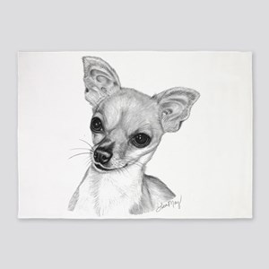 Chihuahua-Short Hair 5'x7'Area Rug