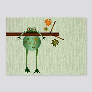 Of Trees And Frogs 5'x7'area Rug