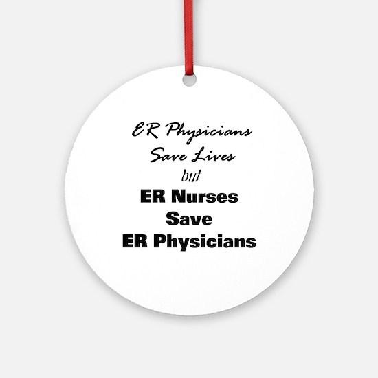 Saving the Docs Ornament (Round)