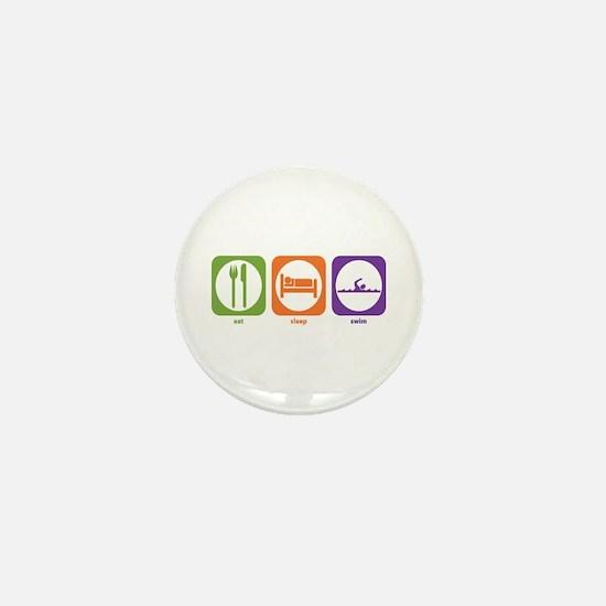 Eat Sleep Swim Mini Button